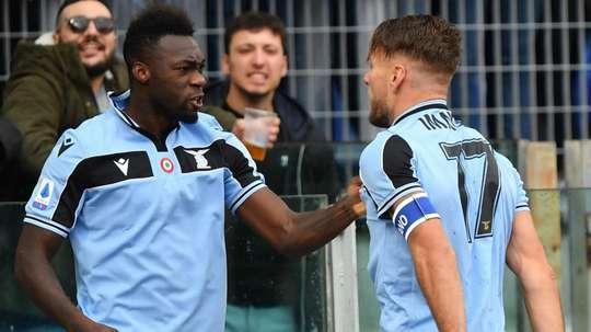 Caicedo carica la Lazio al compleanno di Immobile. GOAL