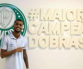 Palmeiras anuncia chegada por empréstimo de Felipe Pires.