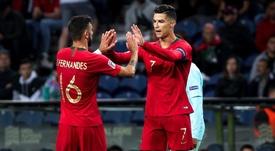 Bruno Fernandes thinks he will help Cristiano Ronaldo beat Ali Daei's record. GOAL