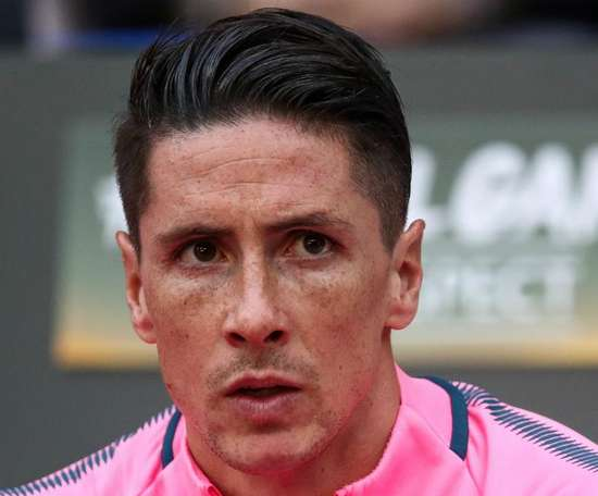 Fernando Torres was unable to end his career on a high after a 1-6 loss. GOAL