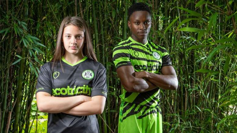 Forest Green's new kit is made from 50 per cent bamboo. GOAL