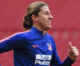 Filipe Luis treinou com máxima intensidade. Goal