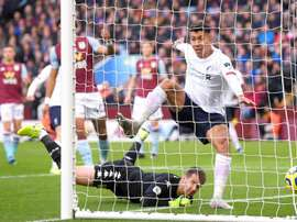 Firmino thought he had scored at Villa Park, but the VAR confirmed he was fractionally offside. GOAL