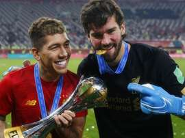 Alisson hails Firmino after Club World Cup heroics. AFP