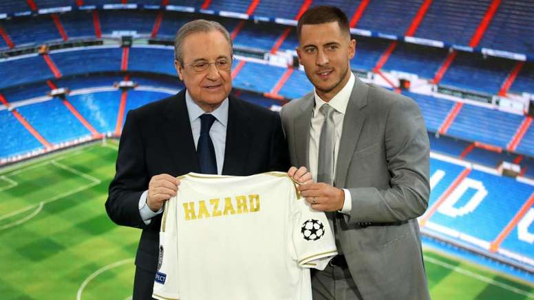 Hazard was presented as a Real player on Thursday. GOAL