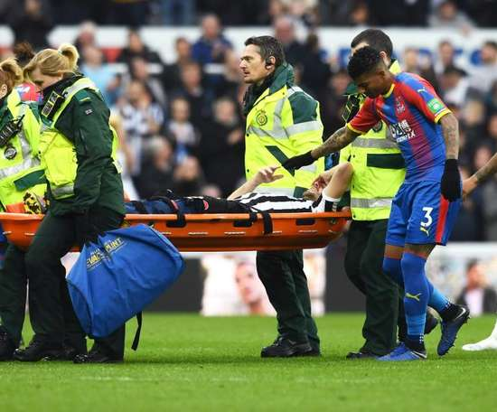 Florian Lejeune was seriously injured against Crystal Palace. GOAL