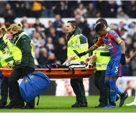 Lejeune had to be stretchered off with a knee injury. GOAL
