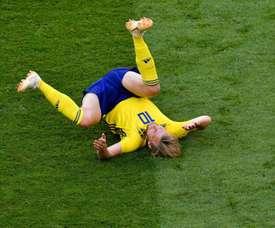 Forsberg fica devendo contra a Inglaterra.Goal