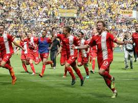 Fortuna will return to the Bundesliga. GOAL