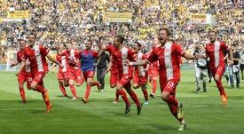 Fortuna will return to the Bundesliga. GOAL