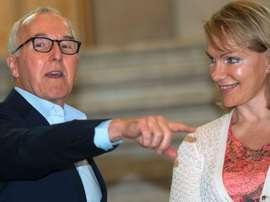 Franck McCourt et Margarita Louis-Dreyfus. AFP