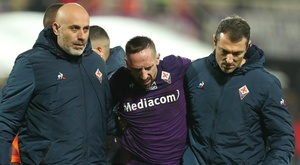 Fiorentina winger Ribery suffers ankle ligament injury. GOAL