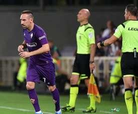 Ribéry a repris l'entraînement à la Fiorentina. GOAL