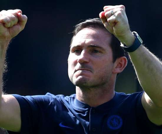 Frank Lampard secured his first win as Chelsea manager. GOAL