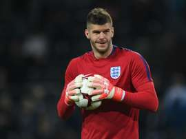 Fraser Foster is a competitor of Joe Hart. AFP