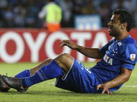 O atacante comemorou a vitória na estreia cruzeirense na Libertadores