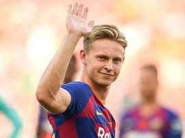 De Jong ne veut pas croiser Van de Beek à Madrid. AFP