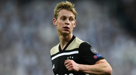 Frenkie de Jong is unlikely to feature in Ajax's clash with Juve