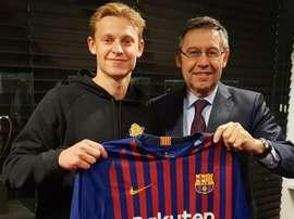 De Jong, jogador do Barcelona. Goal