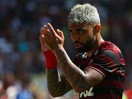 Gabriel gesticula em jogo do Flamengo. GOAL