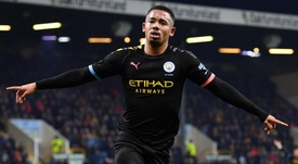 Burnley-Manchester City 1-4, les Citizens remercient Gabriel Jesus. AFP