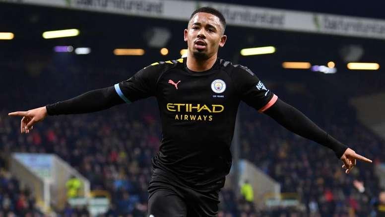 Burnley-Manchester City 1-4, les Citizens remercient Gabriel Jesus. AFP
