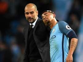 Gabriel Jesus Pep Guardiola Manchester City Manchester United Premier League. Goal