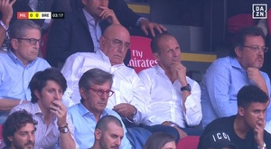 Allegri in tribuna per il Milan. Goal