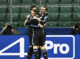 Gareth Bale et ses coéquipiers du Real Madrid en Ligue des champions. AFP