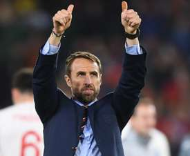 Southgate thanks the travelling England supporters in Seville. GOAL