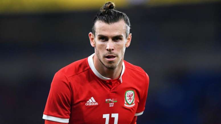 Gareth Bale playing with anger.