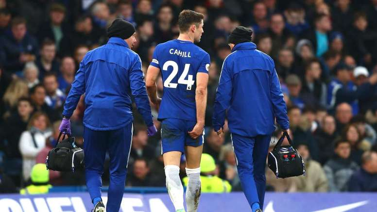 Cahill limped off after just 33 minutes. GOAL