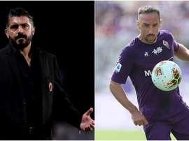 Mister Gattuso e Franck Ribery. Goal