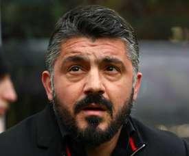 Gattuso's AC Milan will take on Juventus on Saturday. GOAL