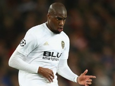 Geoffrey Kondogbia playing for Valencia in the Champions League. GOAL