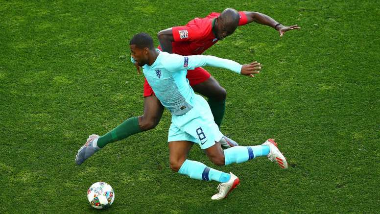 Wijnaldum was disappointed not to win the Nations League final. GOAL