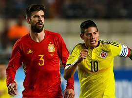 Gerard Pique James Rodriguez Spain Colombia Friendly 07062017