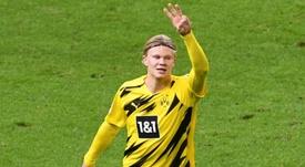 Haaland fête son Golden Boy avec un quadruplé . goal