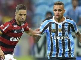 Diego Flamengo Luan Gremio 2018. Goal