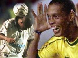 Ronaldinho Gaúcho e um golaço. EFE