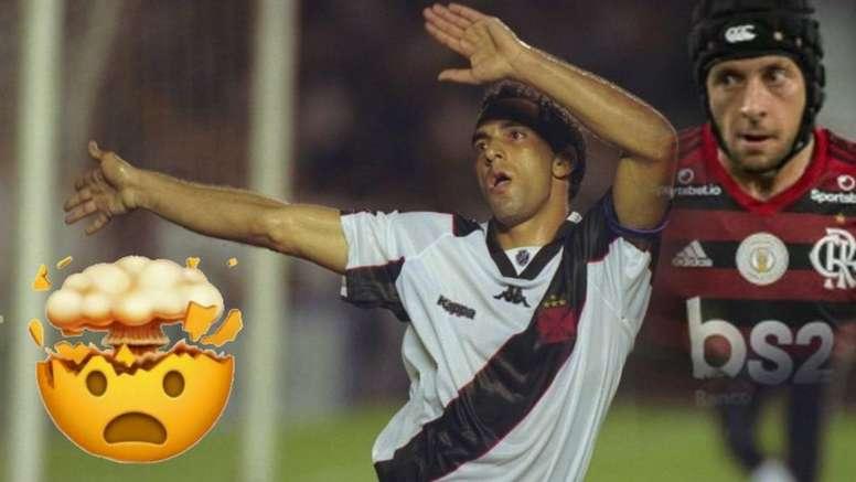 Rafinha comemora gol do Flamengo imitando dança de Edmundo