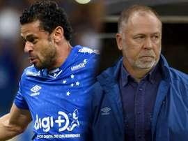 Queda na Libertadores reacende tensão entre Fred e Mano Menezes