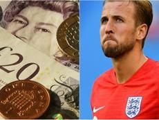 No Reino Unido, artista desenha rosto de Harry Kane em notas de cinco libras