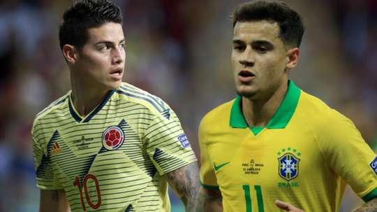 O desafio para James e Coutinho se valorizarem. Goal