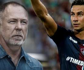 Mano Menezes e Ganso se reencontram em momentos distintos