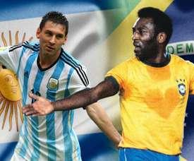 Pelé ou Messi? A batalha para ver quem é o maior jogador sul-americano da história.