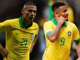 Richarlison e Gabriel Jesus disparam na artilharia da Seleção pós-Copa.