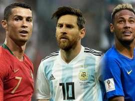 Trois cracks du football mondial. Goal