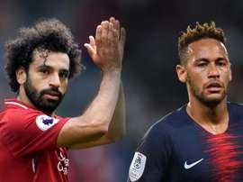 GFX Salah Neymar Liverpool PSG 2018. Goal