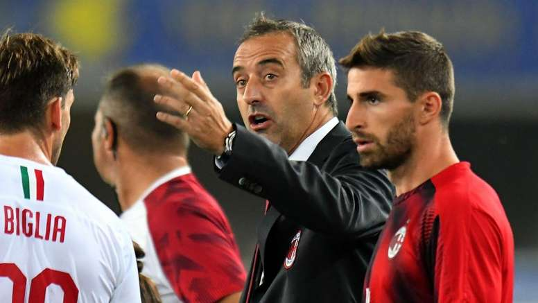 AC Milan players behind Giampaolo